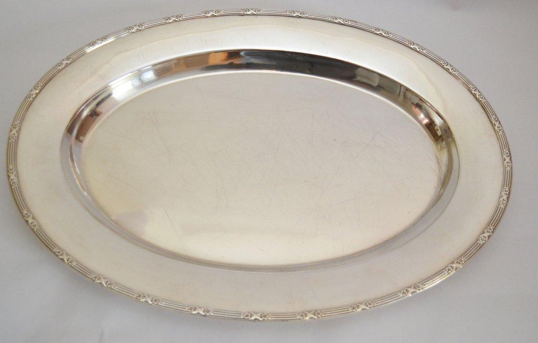 Elegant Large Mid Century  Sterling Silver Platter