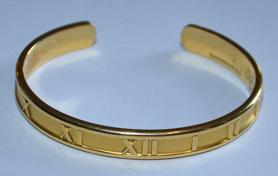 Sm Tiffany & Co 18K Gold Atlas Bangle Bracelet