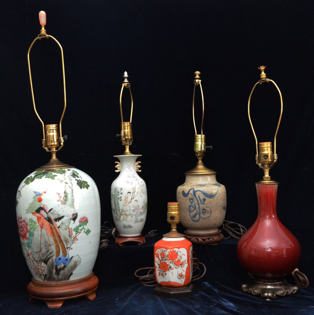 Group of Asian  lamps
