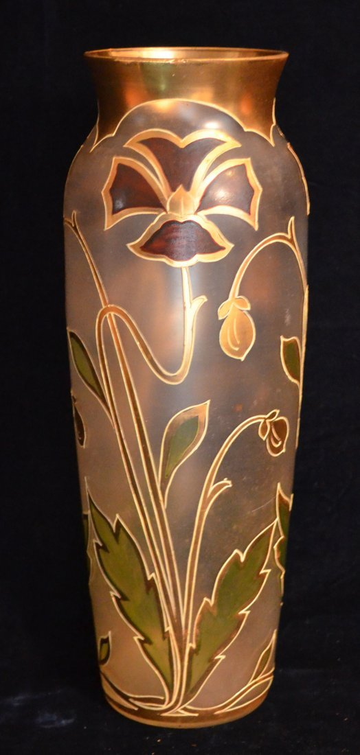 D'Argental Cameo Glass Art Nouveau Vase