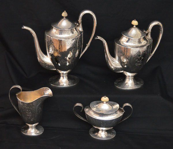 Barbour Silver Co Sterling Silver Tea Set