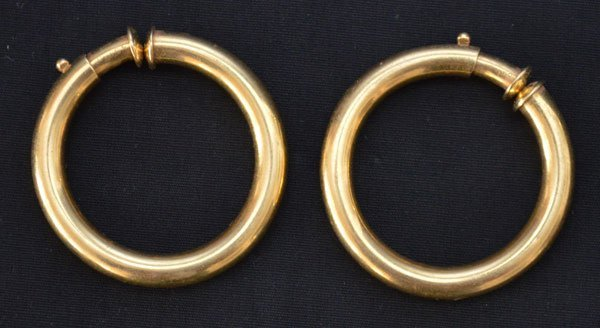 Vintage 18k Gold Cartier Hoop Earrings