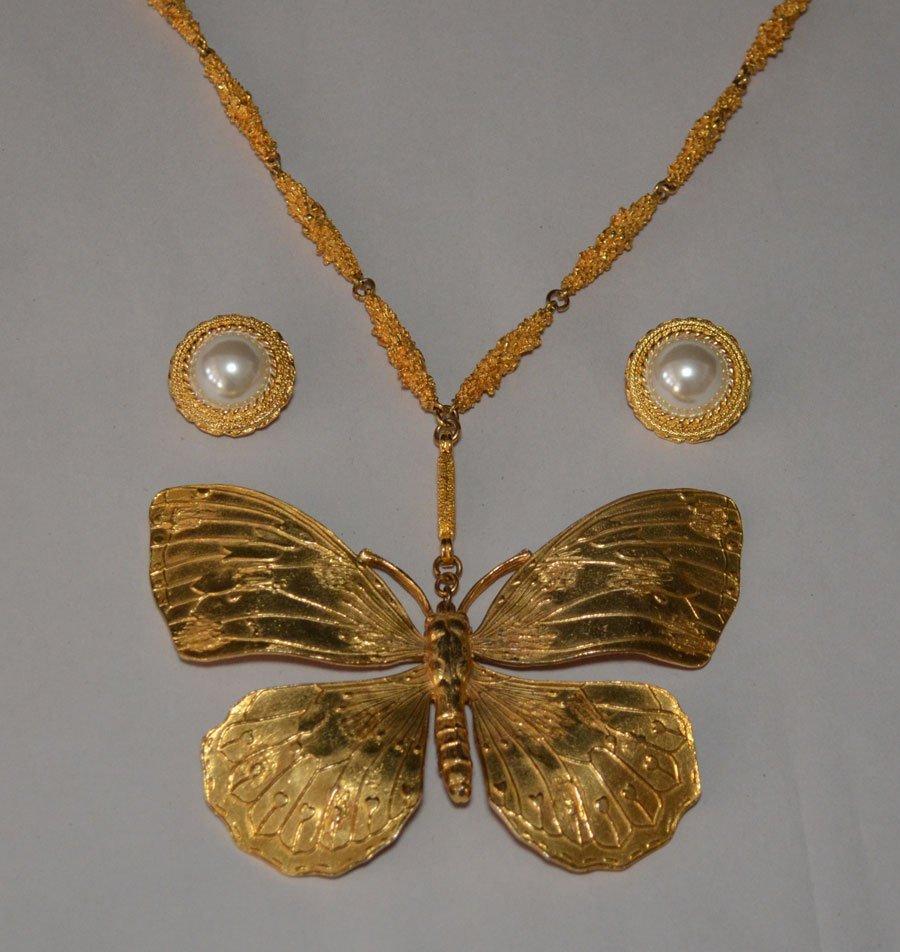 Alexis Kirk Butterfly Necklace & Earrings