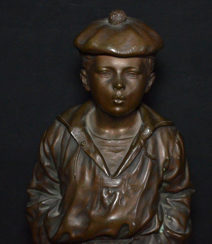 V. Szczeblewski  Bronze Boy Statue 1889 - 2