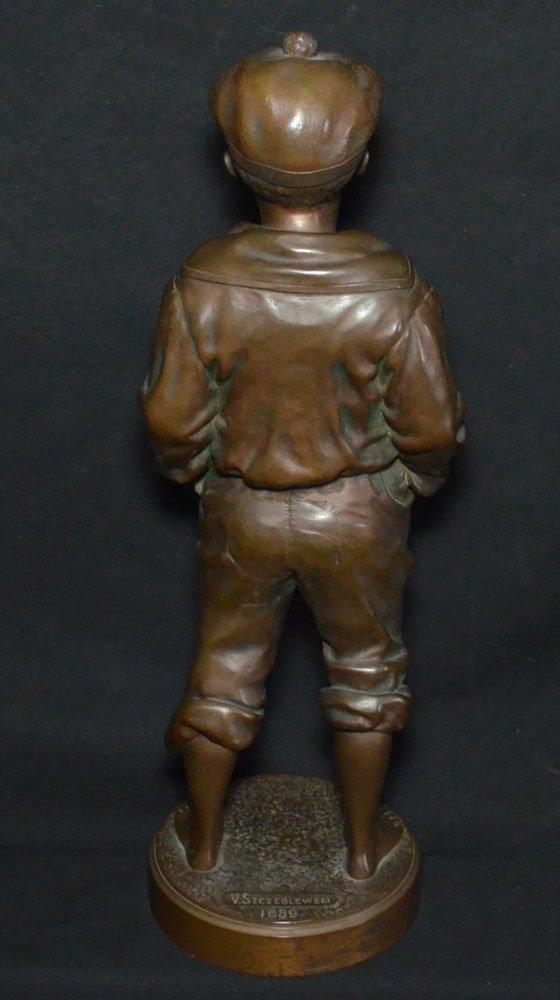 V. Szczeblewski  Bronze Boy Statue 1889 - 3