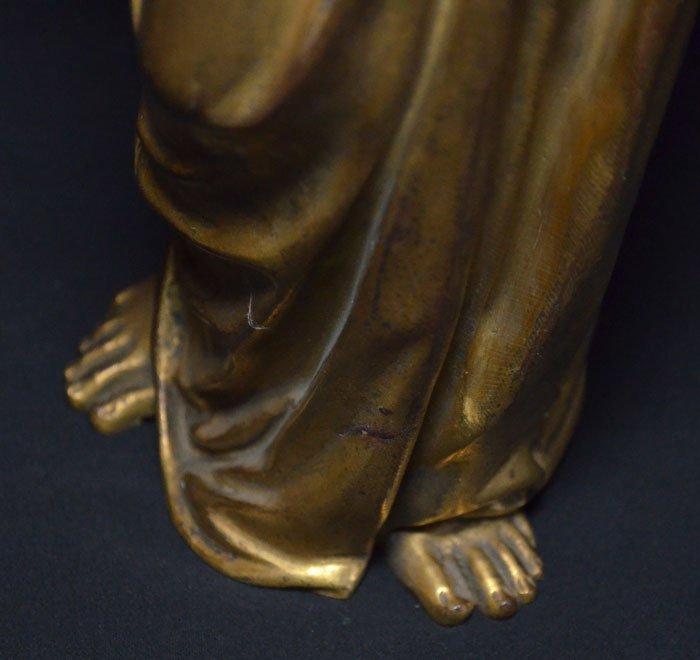 Divine Pair of Gilt D'ore Bronze Angel Statues - 8