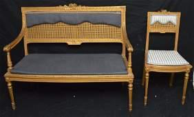 3 Piece Louis XV Style Gold Leaf Parlor Set