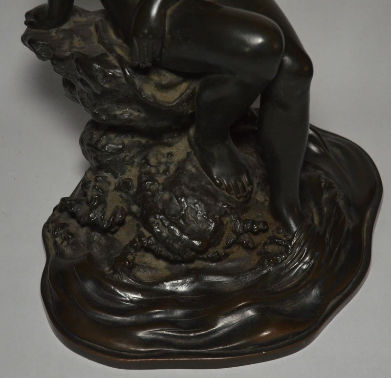 Large Japanese Bronze Nude, Bathing Woman - 3