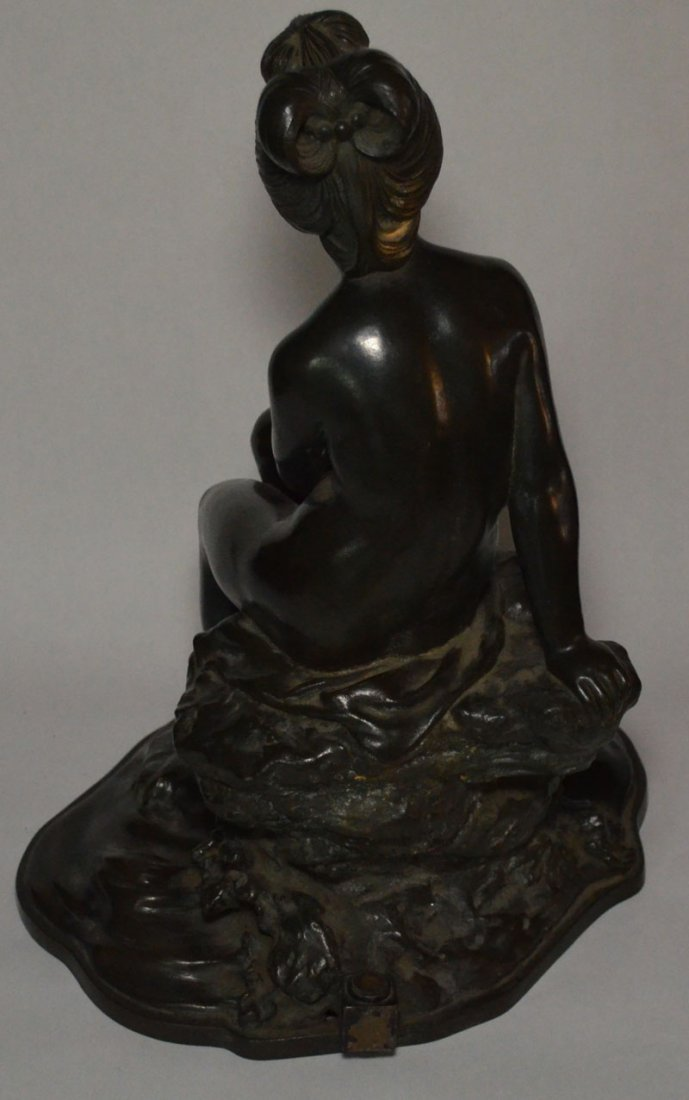 Large Japanese Bronze Nude, Bathing Woman - 4