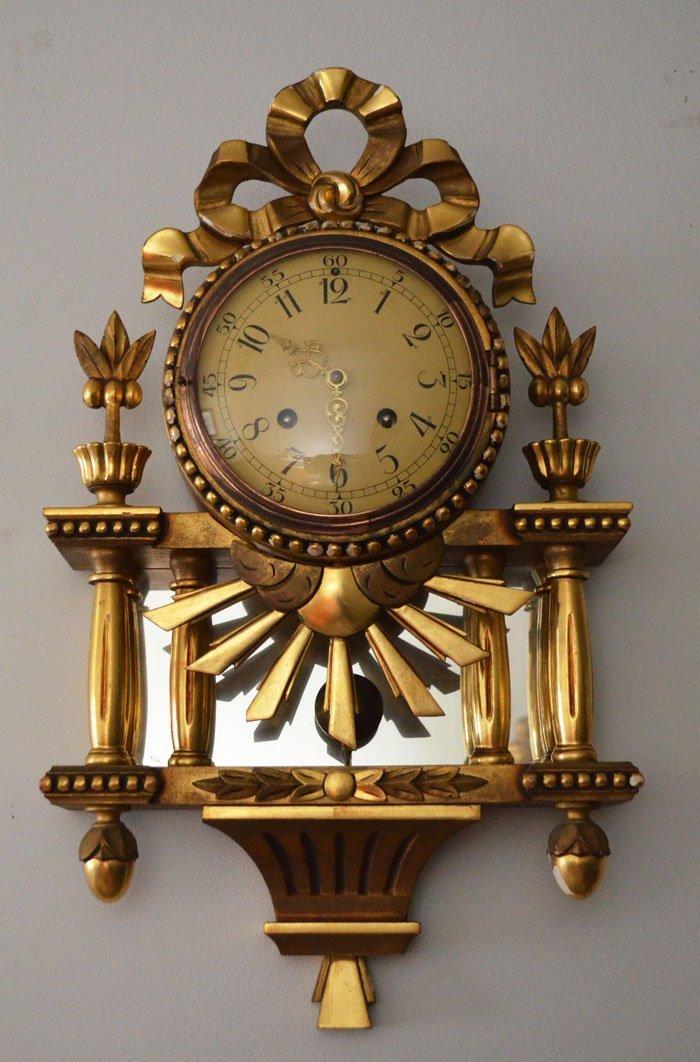 Vintage Ornate Gold Gilt Swedish Westerstrand Clock