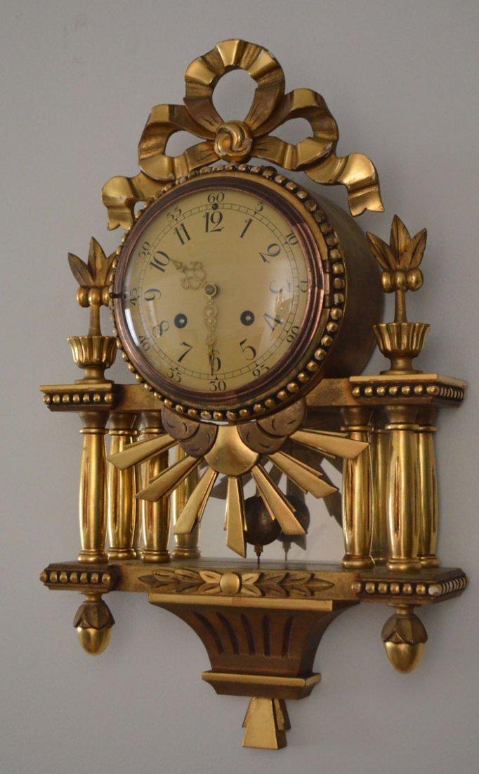Vintage Ornate Gold Gilt Swedish Westerstrand Clock - 3