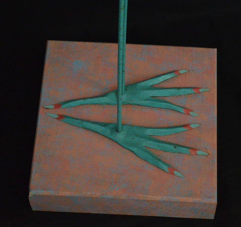 Whimsical Tom Kloss Designs Carved  Wooden Bird - 4