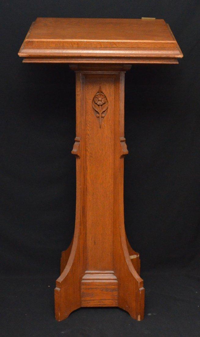 Antique Oak Book / Lectern Podium Stand