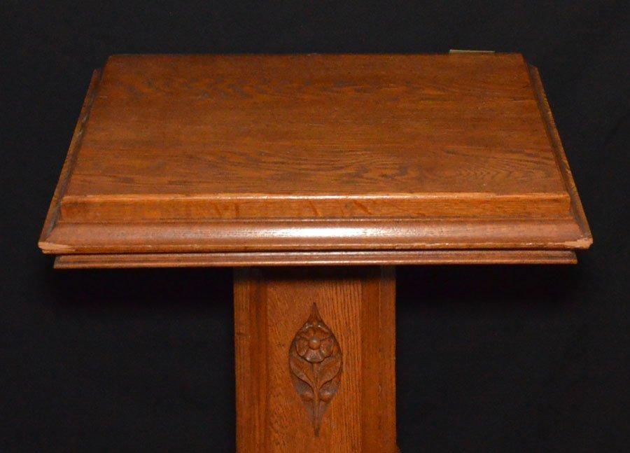 Antique Oak Book / Lectern Podium Stand - 2