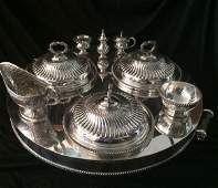 English Vintage Silver Plate Silent Butler Lazy Susan