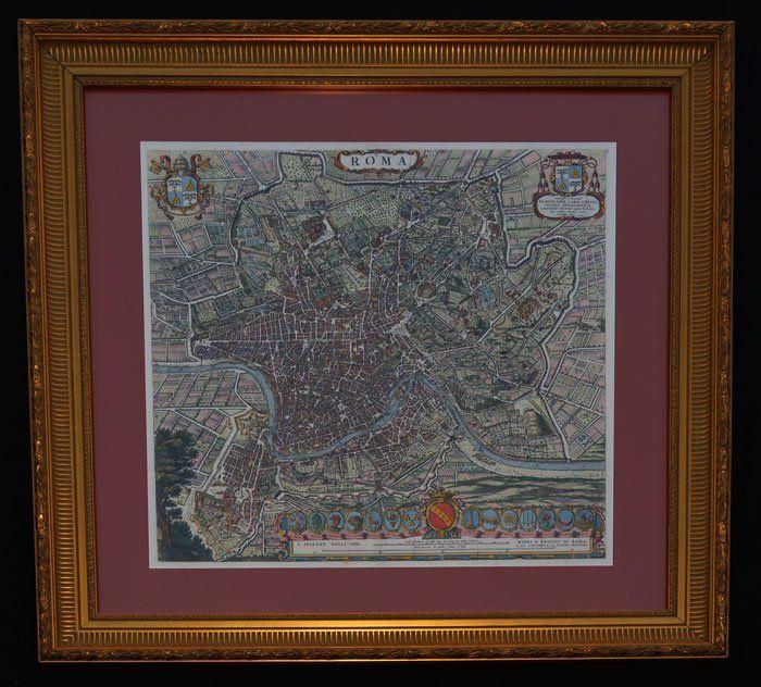 Willem Janszoon Blaeu /C. Mortie Map of Rome