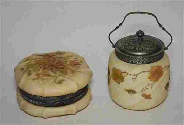Wavecrest Biscuit Jar & Powder Jar