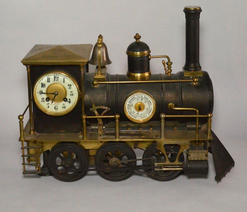 A French Bronze Industrial Style Steam Locomotive