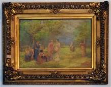 Arthur B Davies Impressionist Oil Painting of Women