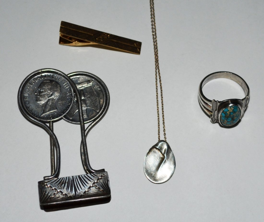 Lot of Sterling & 14k Gold Accessories