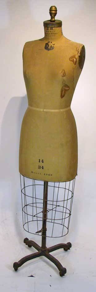 62: Vintage J. R. Bowman Dress Form