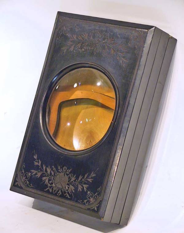 63: Rare Victorian Ebonized Carved  Viewer