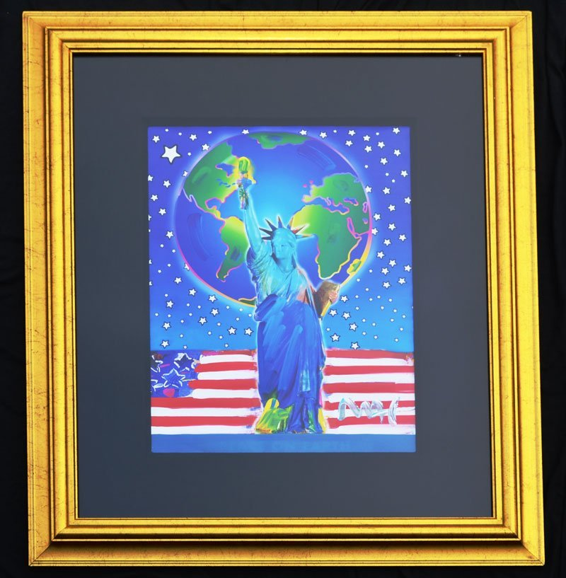 Peter Max Peace On Earth Mixed Media Painting