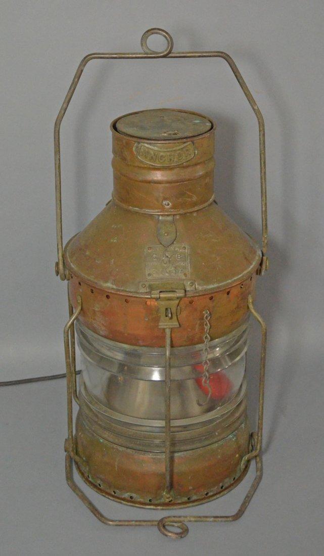 Anchor Seahorse Masthead Light Lantern