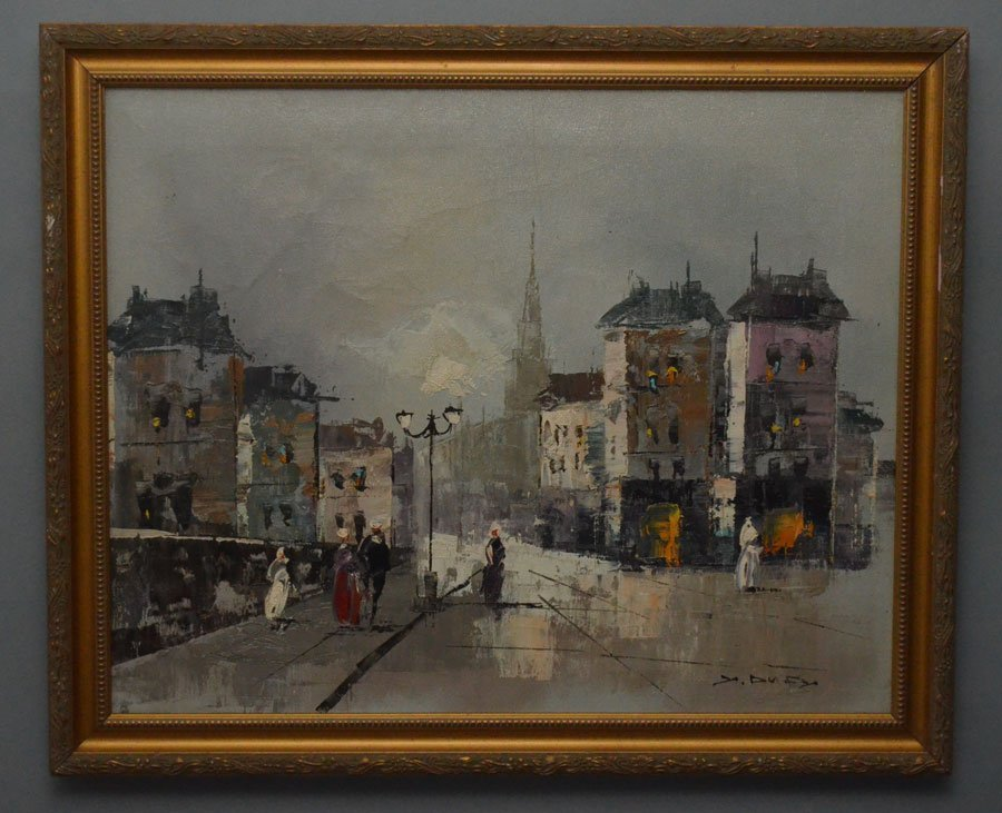 Jean Dufy French Street Scene Painting