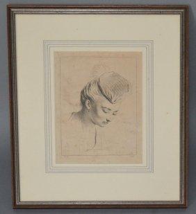Jean Antoine Watteau Drypoint Etching