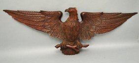 Black Forest Style Carved Wooden Eagle