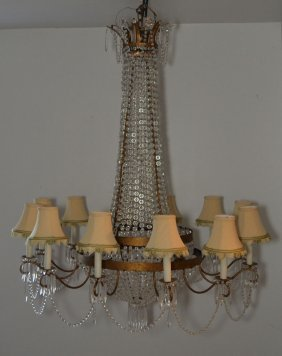 Incredible Large French Crystal Chandelier