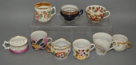 Lot Of Antique Mustache Cups
