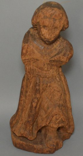 Early Antique Carved Wood Santos