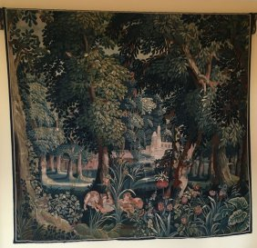 17th Century Castle Sized Flemish Tapestry