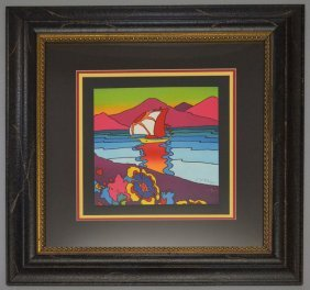 "Signed & Numbered Peter Max ""sunset Sail"""