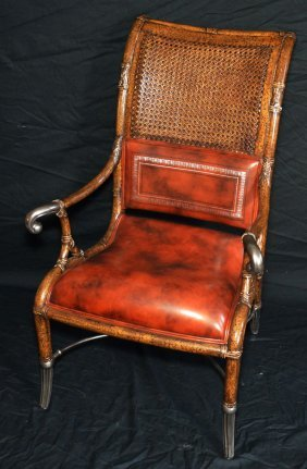 Maitland Smith Faux Bamboo Chair