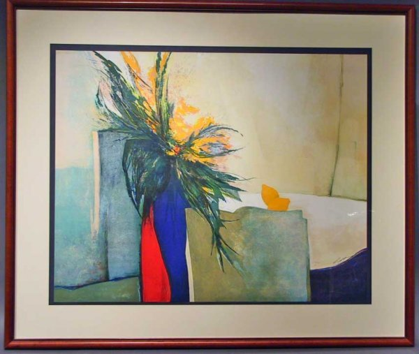 241: Large Lithograph Signed Claude Gaveau