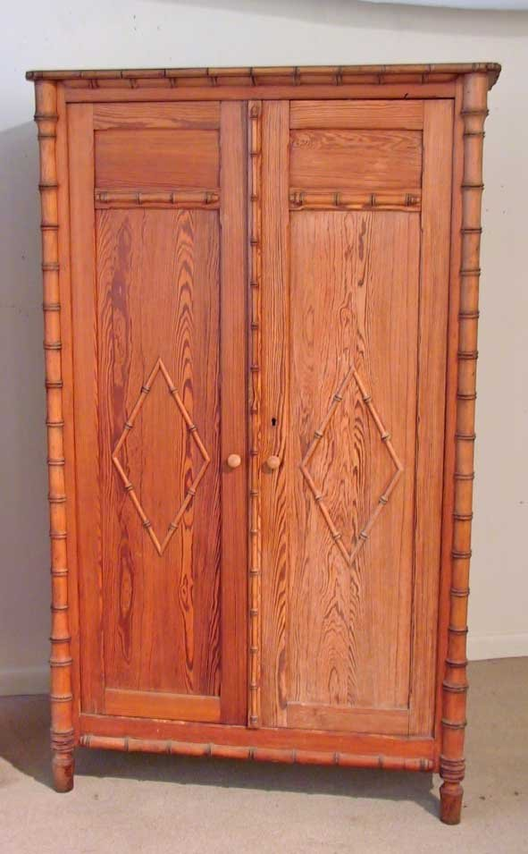 318: 19th Century Faux Bamboo Armoire (Horner)