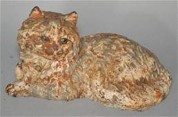 Signed Hubley Cast Iron Cat Doorstop
