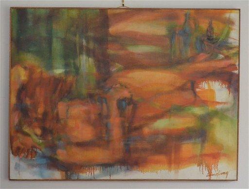 Eleanor Honig Painting of Nude Reclining Woman - Mar 31