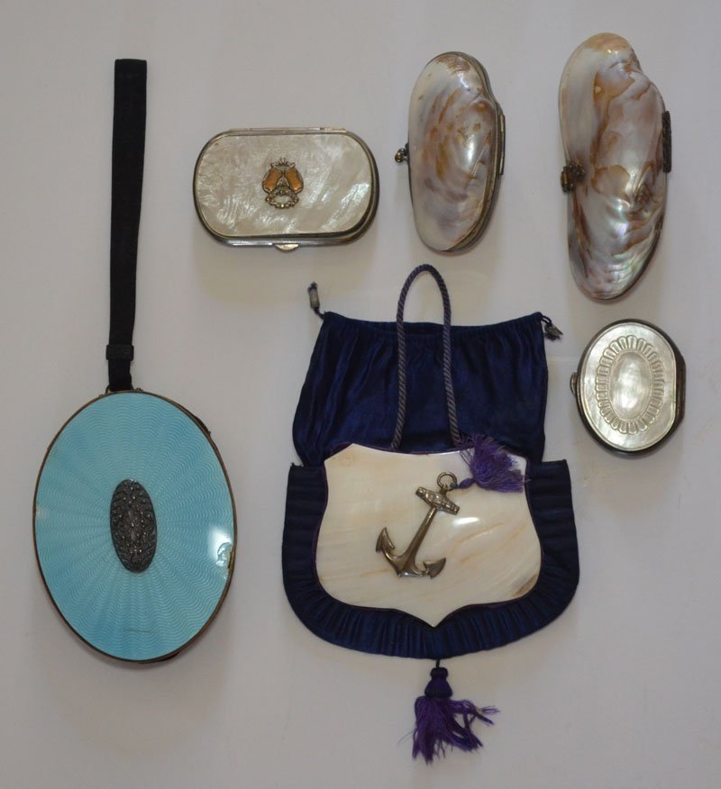 6 Vintage Mother of Pearl Purses