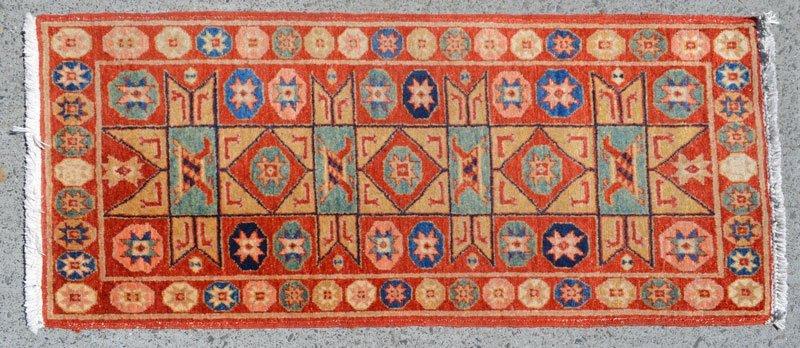 Vintage Geometric Wool Oriental Rug