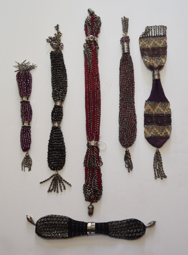 Wonderful Collection of 6 Beaded Miser's Purses