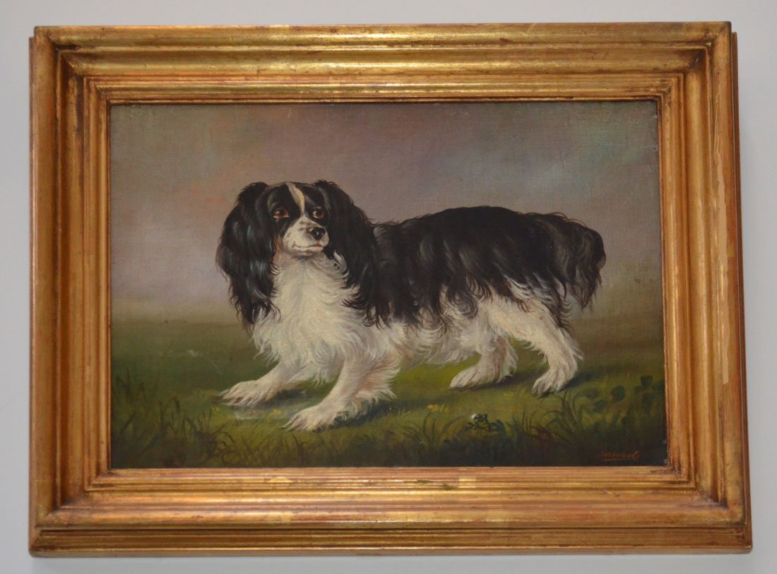 Antique O/C Painting of King Charles Cavalier Spaniel