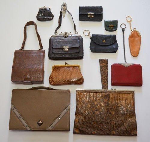 11 Vintage Leather & Exotic Leather Purses