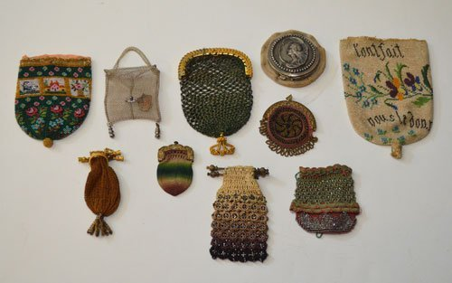 Collection of 10 Antique Beaded Change Purses