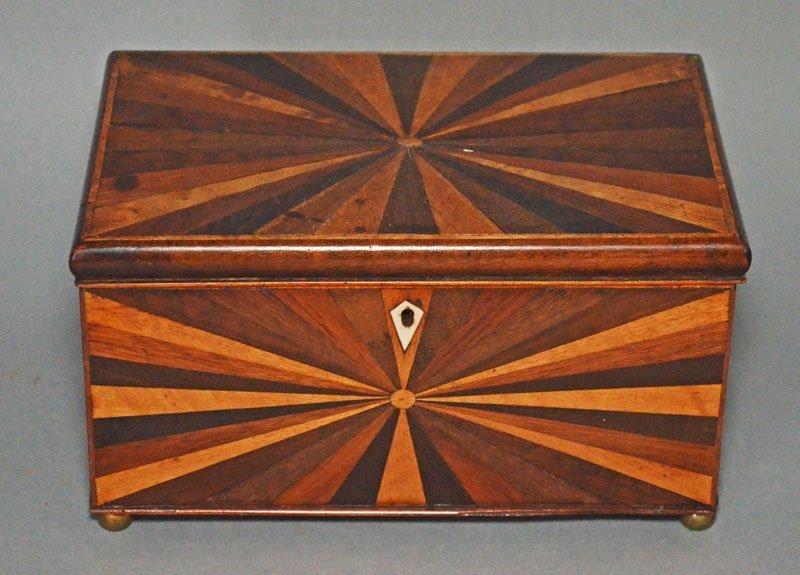 Amazing Georgian Geometric Design Tea Caddy
