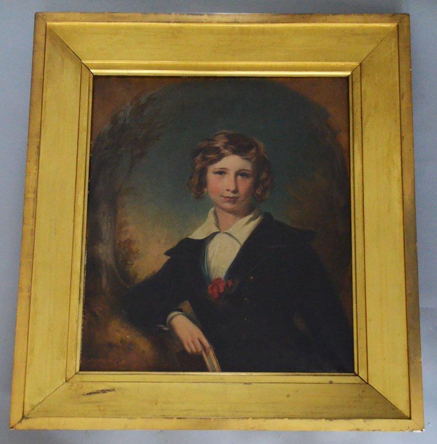 JG Middleton 1863 Portrait Painting Of A Girl