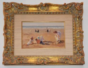 Anne Bardot Beach Scene Painting